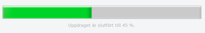 Ett exempel på hur progress-elementet visas i Firefox på Windows 7.